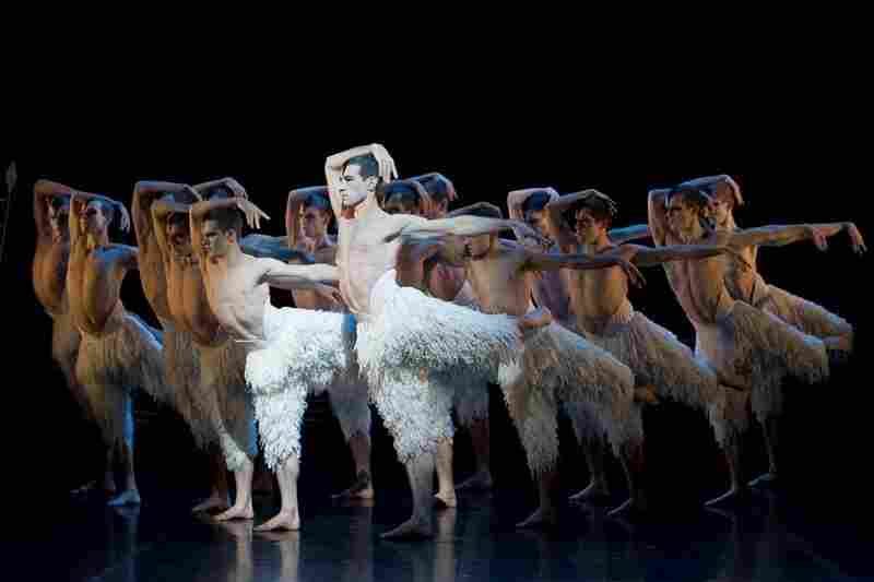 Jonathan Ollivier plays the Swan in choreographer Matthew Bourne's Swan Lake, which replaces the traditional female corps de ballet with a male ensemble. Bourne premiered his take on the ballet in 1995.