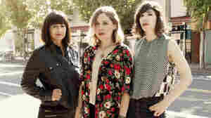 Sleater-Kinney's new album, its first since 2005, is No Cities to Love. Left to right: drummer Janet Weiss, singer-guitarist Corin Tucker, singer-guitarist Carrie Brownstein.