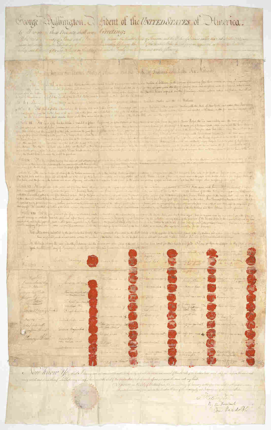 The Treaty of Canandaigua is one of the first treaties signed between Native American nations and the U.S.