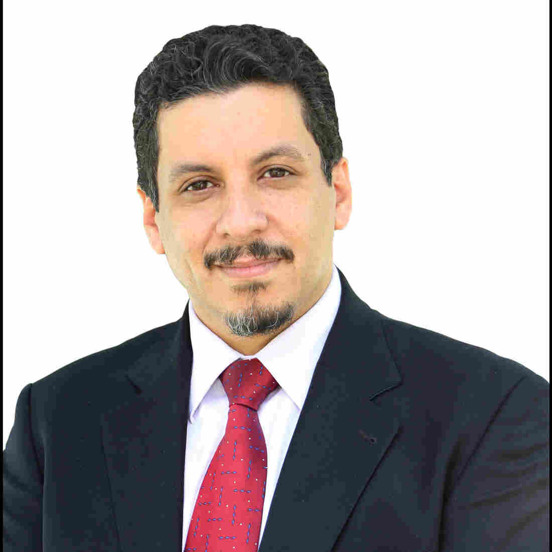 The undated portrait photo shows Ahmed Awad bin Mubarak, chief of staff for Yemeni President Abd-Rabbu Mansour Hadi. Bin Mubarak was kidnapped on Saturday in Sanaa.