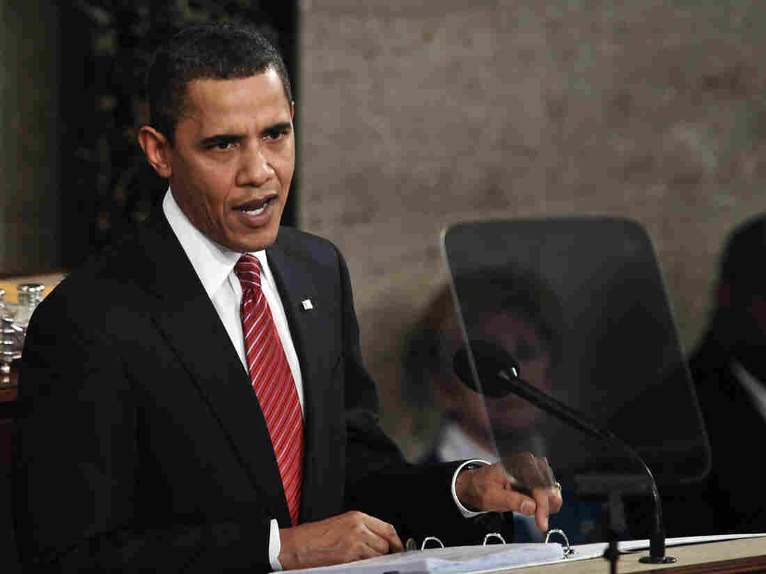 """President Obama used the word """"crisis"""" 11 times when he addressed a joint session of Congress in 2009. Since then, he's had a hard time hitting the right note when talking about the economy."""
