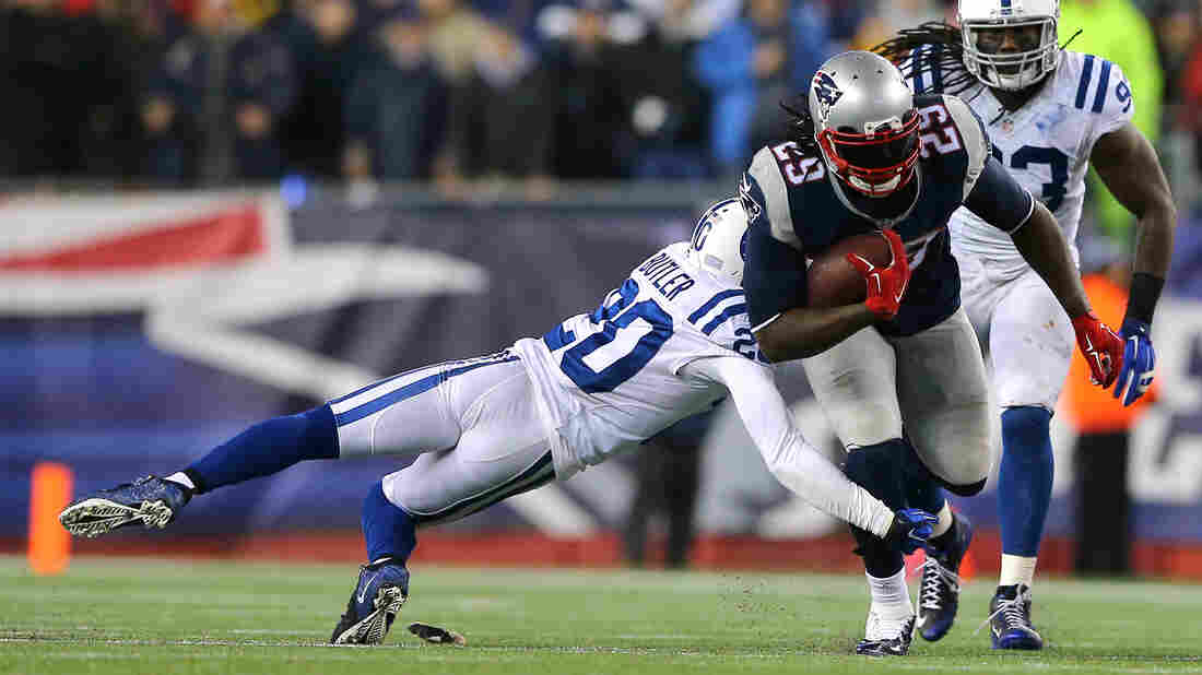 Questions over out-of-regulation footballs have come up after the New England Patriots won the AFC Championship Game Sunday. Running back LeGarrette Blount ran for 148 yards and three touchdowns in the Patriots' 45-7 win over the Indianapolis Colts.