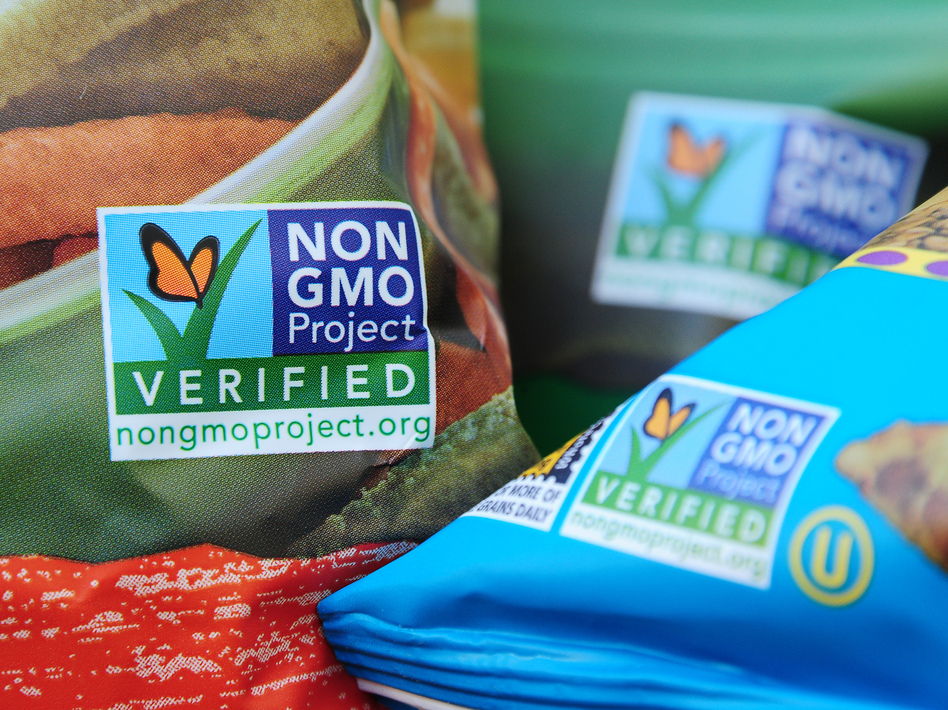 Demand is growing for GMO-free labels on food products, according to the Non-GMO Project, one of the principal suppliers of the label. (Robyn Beck/AFP/Getty Images)