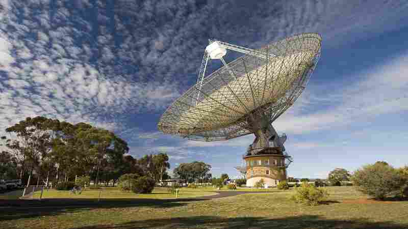 "Australia's giant Parkes radio telescope detected a ""fast radio burst,"" or FRB, last May. Researchers call FRBs, whose origins haven't been explained, ""tantalizing mysteries of the radio sky."""