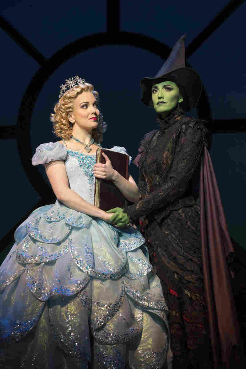 """Early reviews of Wicked """"missed the boat,"""" says critic Jeremy Gerard. Above, Kara Lindsay (left) as Glinda and Caroline Bowman as Elphaba."""