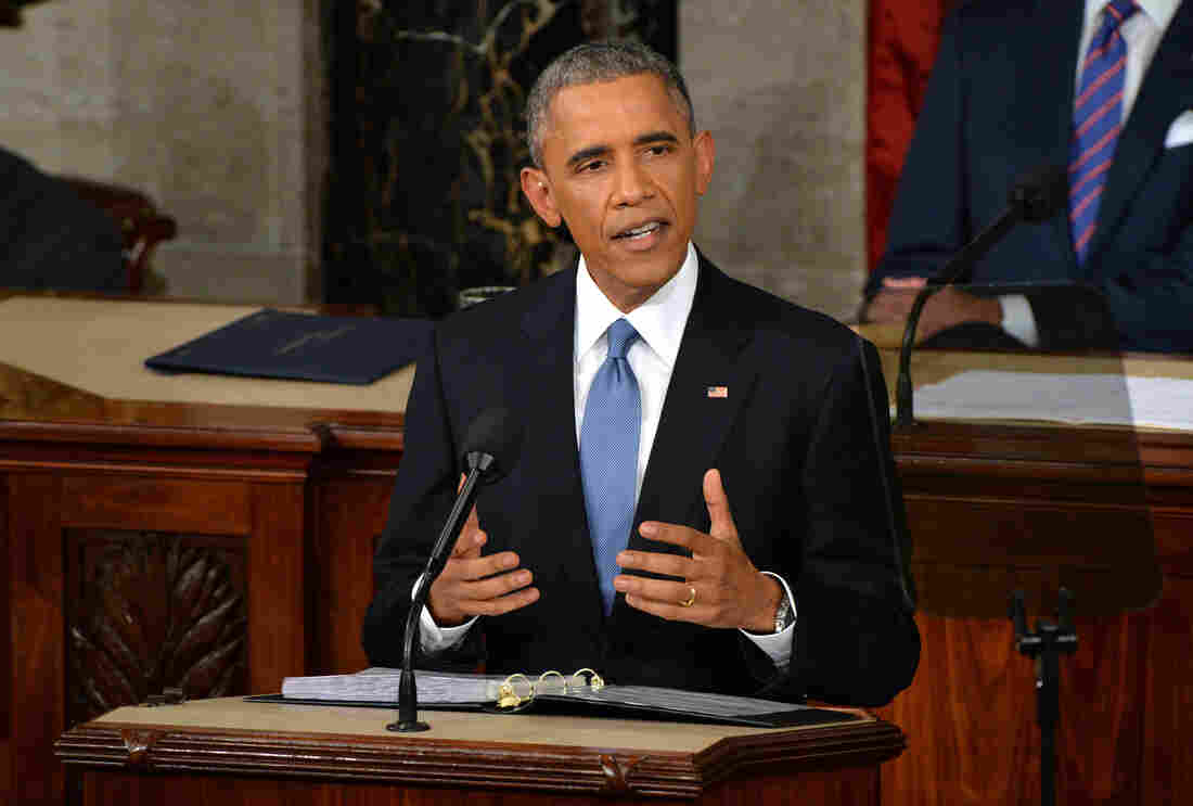 President Obama delivers his State of the Union address in Washington on Tuesday.