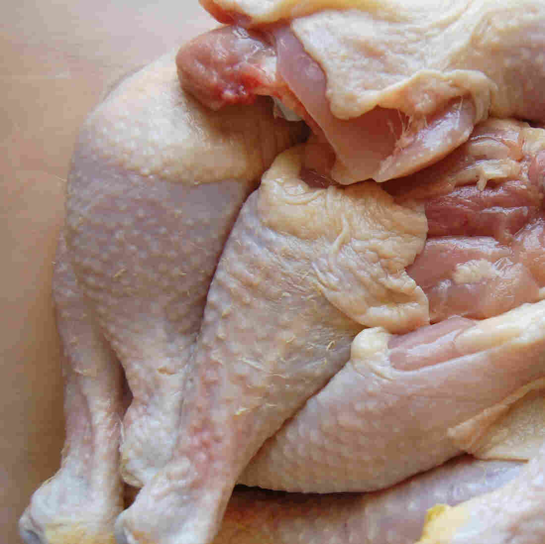 About a quarter of the chicken parts we buy are tainted with salmonella, according to USDA tests.