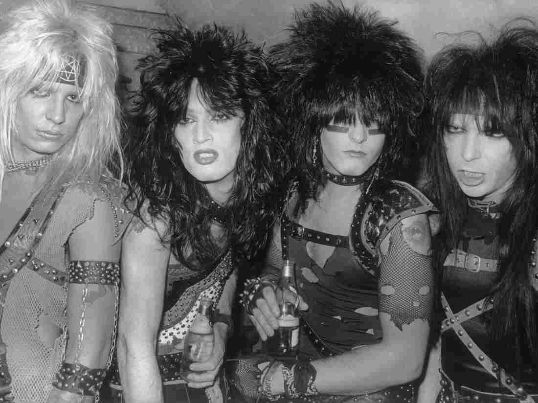 The impressively hirsute Mötley Crüe in 1983.