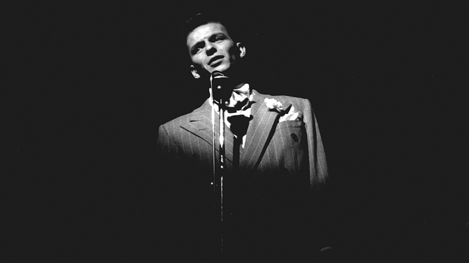 """Frank Sinatra captured by photographer William """"PoPsie"""" Randolph during a 1943 concert. Author Ben Yagoda points to Sinatra as one of the interpreters who helped revive the Great American Songbook. (Courtesy of Riverhead)"""