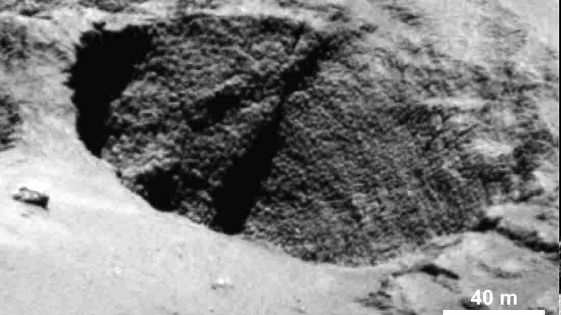 """Close-ups of a curious surface texture on Comet 67P nicknamed """"goosebumps,"""" all of them at a scale of around 3 meters and spanning areas more than 100 meters."""