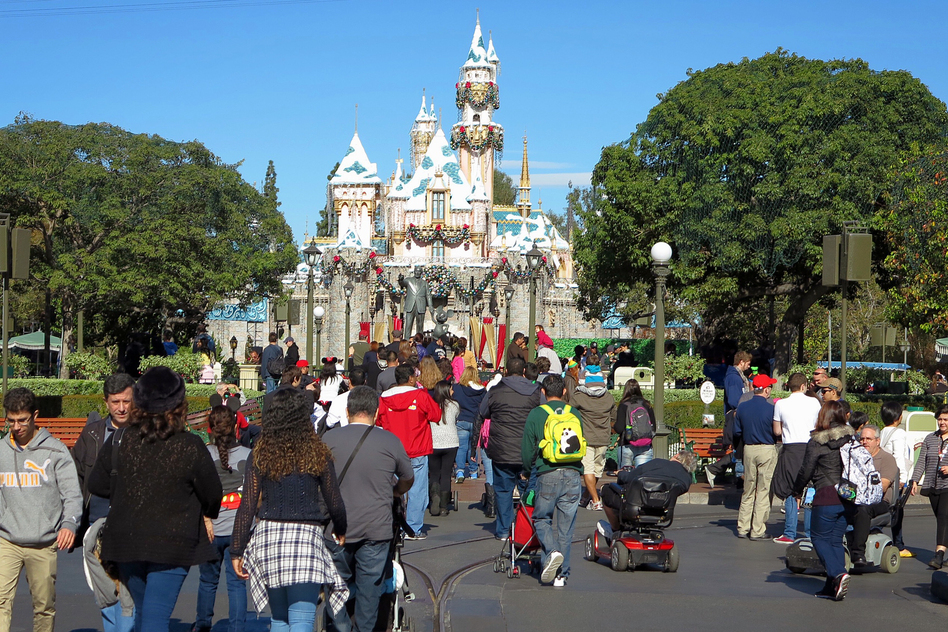 People who visited Disneyland in December were at risk of getting an unwelcome souvenir: the measles. (George Frey/Landov)