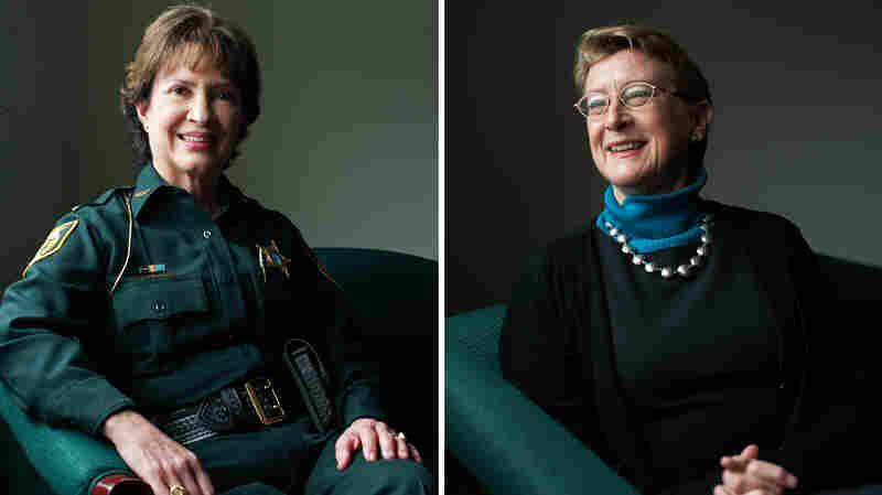 Alachua County Sheriff Sadie Darnell (left) and Dr. Nancy Hardt, University of Florida.