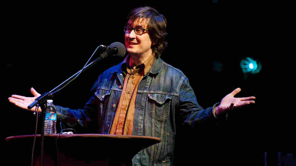 John Darnielle of the Mountain Goats, and the author of Wolf In White Van, live at the Carolina Theatre in Durham, N.C.