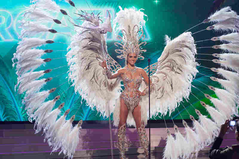Valentina Ferrer, Miss Argentina. Argentina always has its feathers in order for this event. Always.