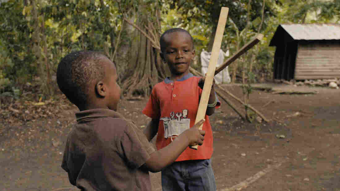 The Professor's pupils practice with wooden sticks, not sharp blades.