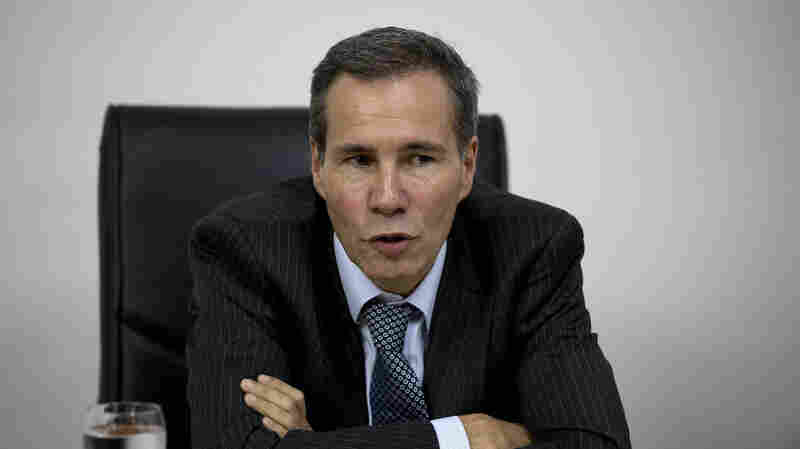Alberto Nisman, the prosecutor investigating the 1994 bombing of the Argentine-Israeli Mutual Association community center, talks to journalists in Buenos Aires, Argentina, in 2013. Nisman was found shot dead in his apartment on Sunday.