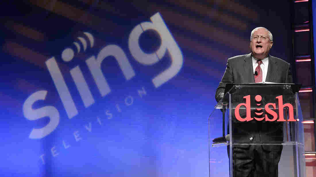 Joe Clayton, president and CEO of Dish Network, introduces the Sling TV earlier this month at the International Consumer Electronics Show in Las Vegas.