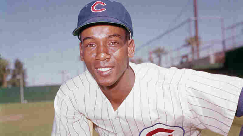The Chicago Cubs' Ernie Banks poses in 1970. The Cubs announced Friday night that Banks had died. The team did not provide any further details. Banks was 83.
