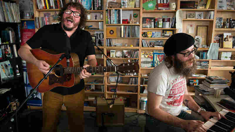 Bobby Bare, Jr. and Matt Rowland perform at the Tiny Desk, Wednesday, November 19, 2014.
