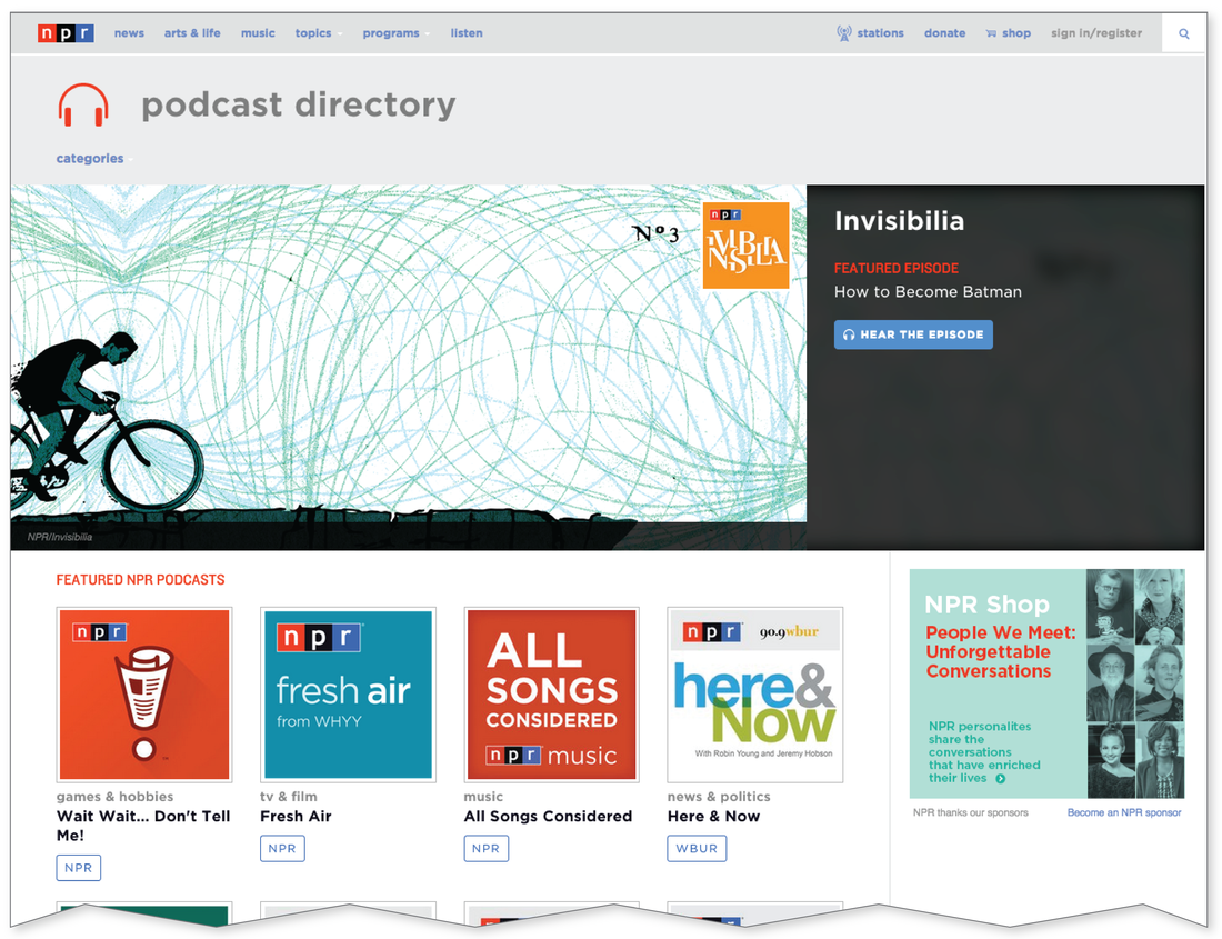 NPR's new podcast directory is mobile-friendly and far more engaging, for both your eyes and ears.