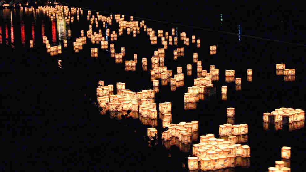 Marie Mutsuki Mockett says the Japanese tradition of Tōrō nagashi — lighting floating paper lanterns in honor of loved ones — reminded her that she was not alone in her grief.