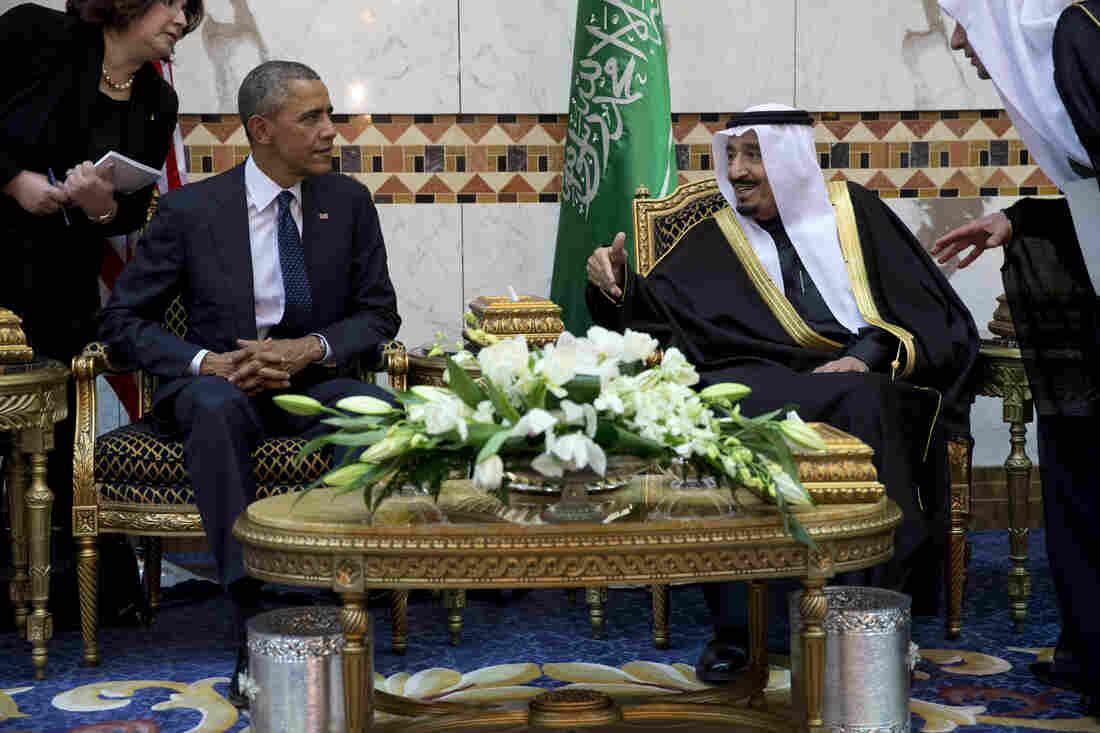 President Obama meets Saudi King Salman bin Abdul Aziz in Riyadh on Tuesday.