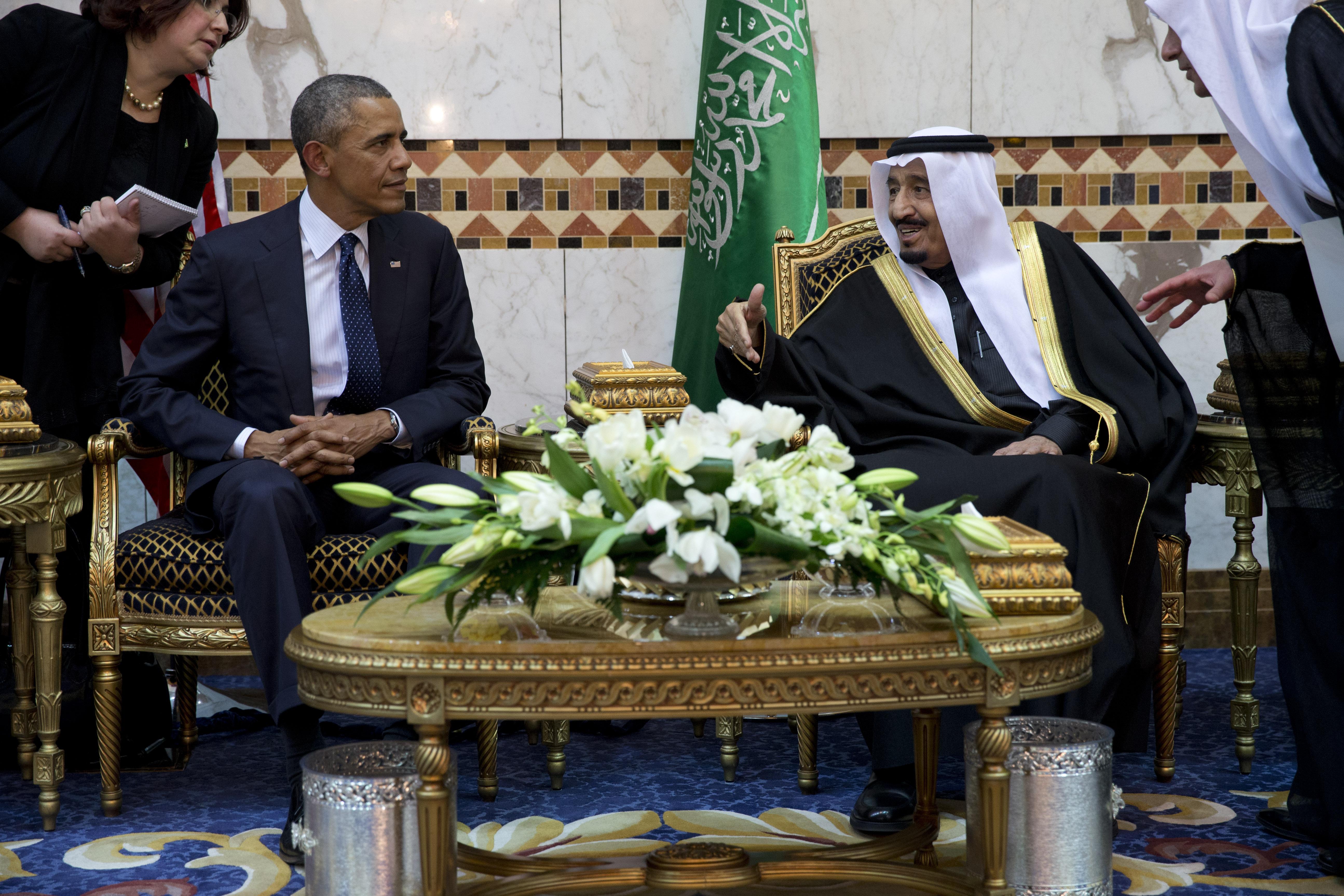 Obama Meets New Saudi King, Balancing Human Rights, U.S. Interests