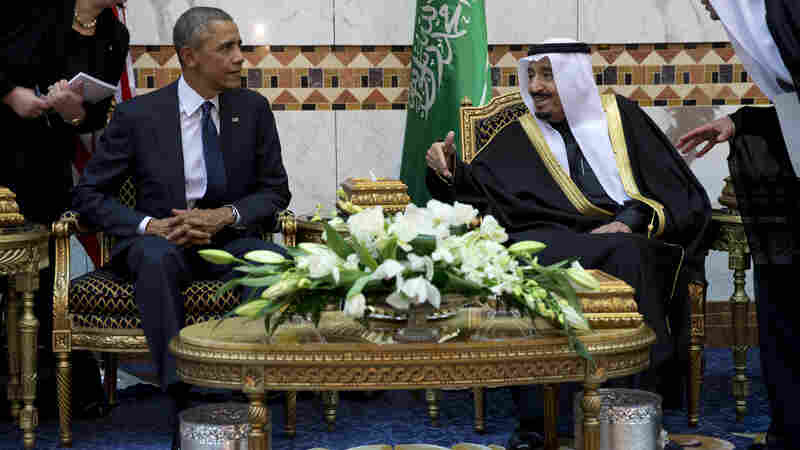President Obama meets Saudi King Salman bin Abdul Aziz in Riyadh on Tuesday.