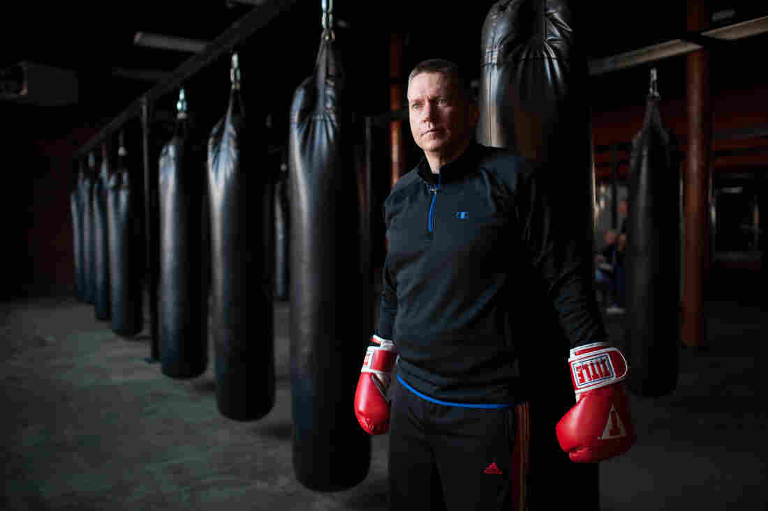 Mike Quaglia says he needs less of his Parkinson's medication when he boxes.