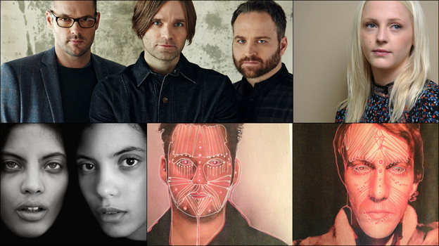 Top row: Death Cab For Cutie; middle row, left to right: Laura Marling, Asaf Avidan, Ibeyi; bottom row: Modest Mouse (Courtesy of the artists)