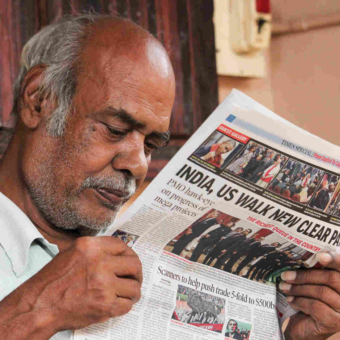 Alagarsamy wasn't impressed by President Obama's pledge to improve Internet access in India. The 73-year-old likes to get his news the old-school way: on paper.