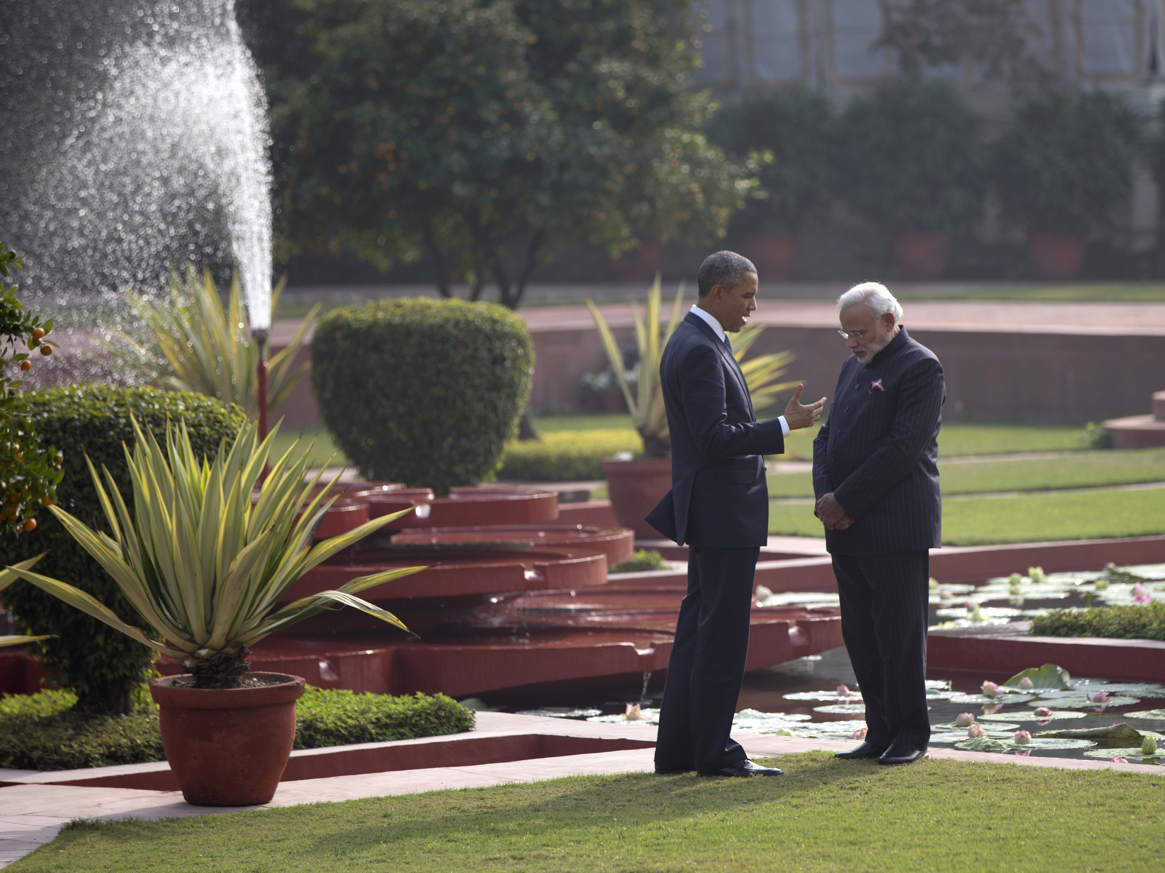 Pakistanis View Obama's India Visit With A Touch Of Irritation