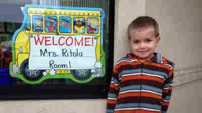 Rhett Krawitt,6, outside his school in Tiburon, Calif. Seven percent of the children in his school are not vaccinated.
