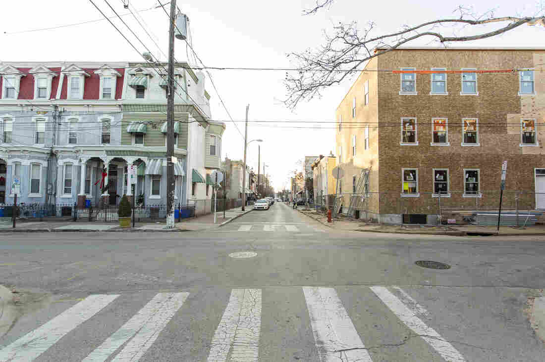 New apartment buildings are replacing empty lots in Mantua, one of Philadelphia's poorest neighborhoods.