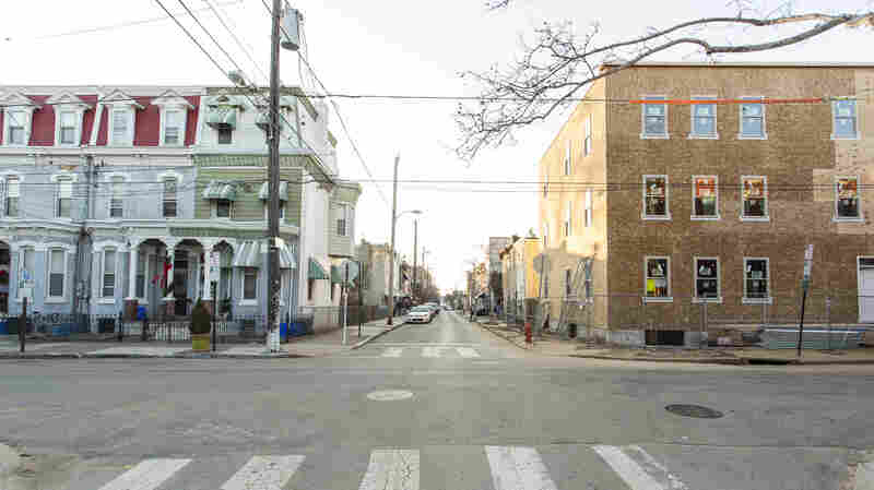 New apartment buildings are replacing empty lots in Mantua, one of Philadelphia's poorest neighborhoods.