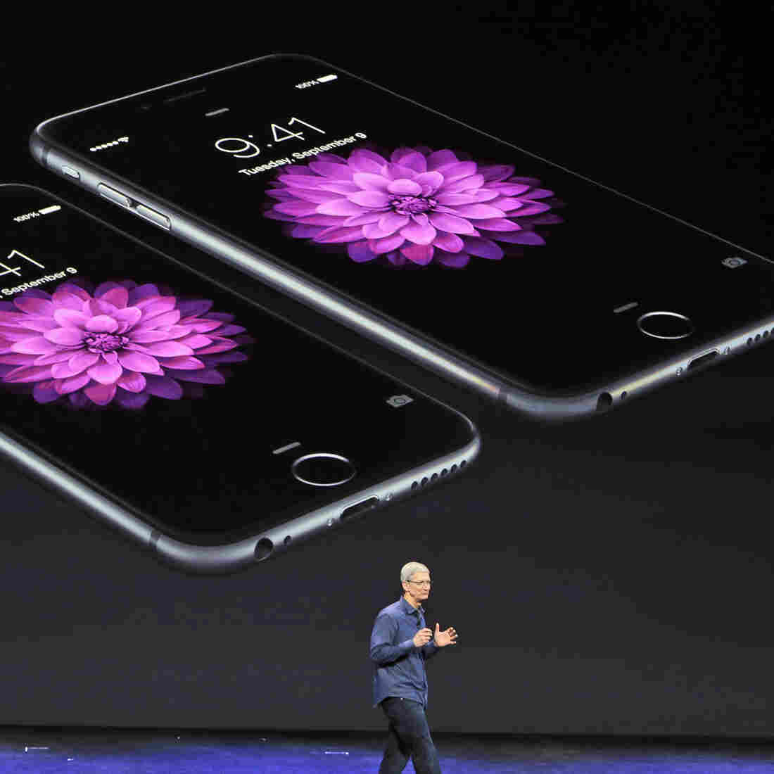 Apple CEO Tim Cook discusses the iPhone 6 and iPhone 6 Plus late last year.