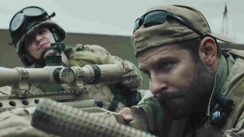 Bradley Cooper (right) plays Chris Kyle in American Sniper. The film has become a cultural phenomenon and has spawned knee-jerk squabbling.
