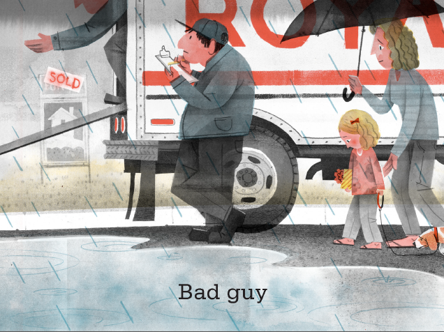 Excerpted from Bad Bye, Good Bye by Deborah Underwood, illustrated by Jonathan Bean. Text copyright 2014 by Deborah Underwood. Illustrations copyright 2014 by Jonathan Bean. Excerpted by permission of Houghton Mifflin Harcourt Publishing Company.
