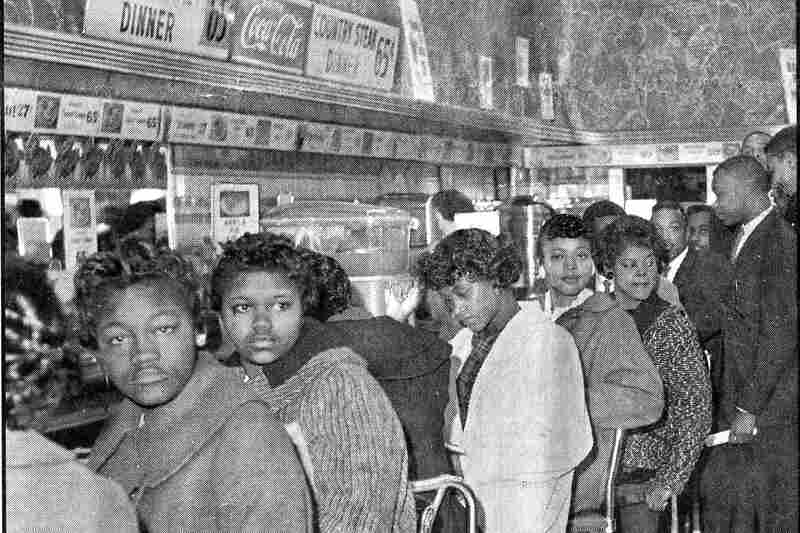 Students stage a sit-in to protest segregation in Rock Hill in 1961.