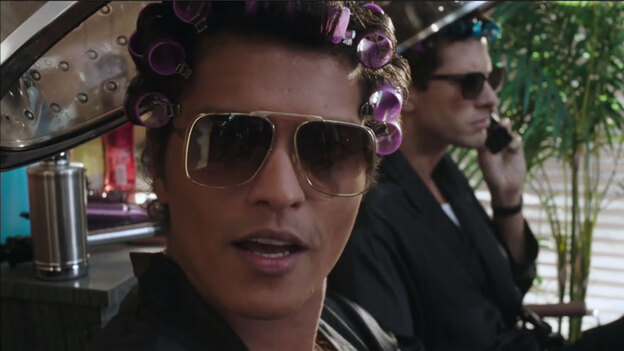 """Bruno Mars (left) and Mark Ronson, whose song, """"Uptown Funk!,"""" has been the No. 1 song in the country for four weeks in a row. (Courtesy of the artist)"""
