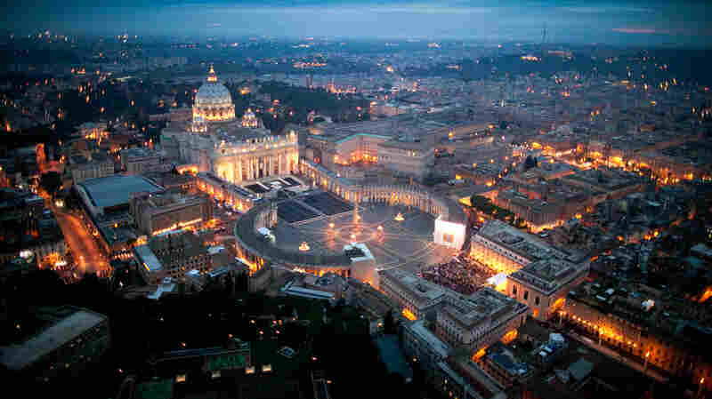 "The Vatican Bank is ""essentially an offshore bank in the middle of a foreign country,"" says Gerald Posner. His new book God's Bankers explores the history of money and power in the Vatican. Above, an aerial view of St. Peter's basilica in Vatican City."