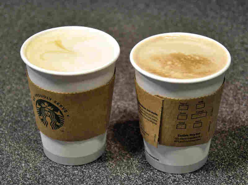 Starbucks uses 10 percent postconsumer recycled content in its paper cups, which environmental groups say is a step in the right direction for packaging sustainability.