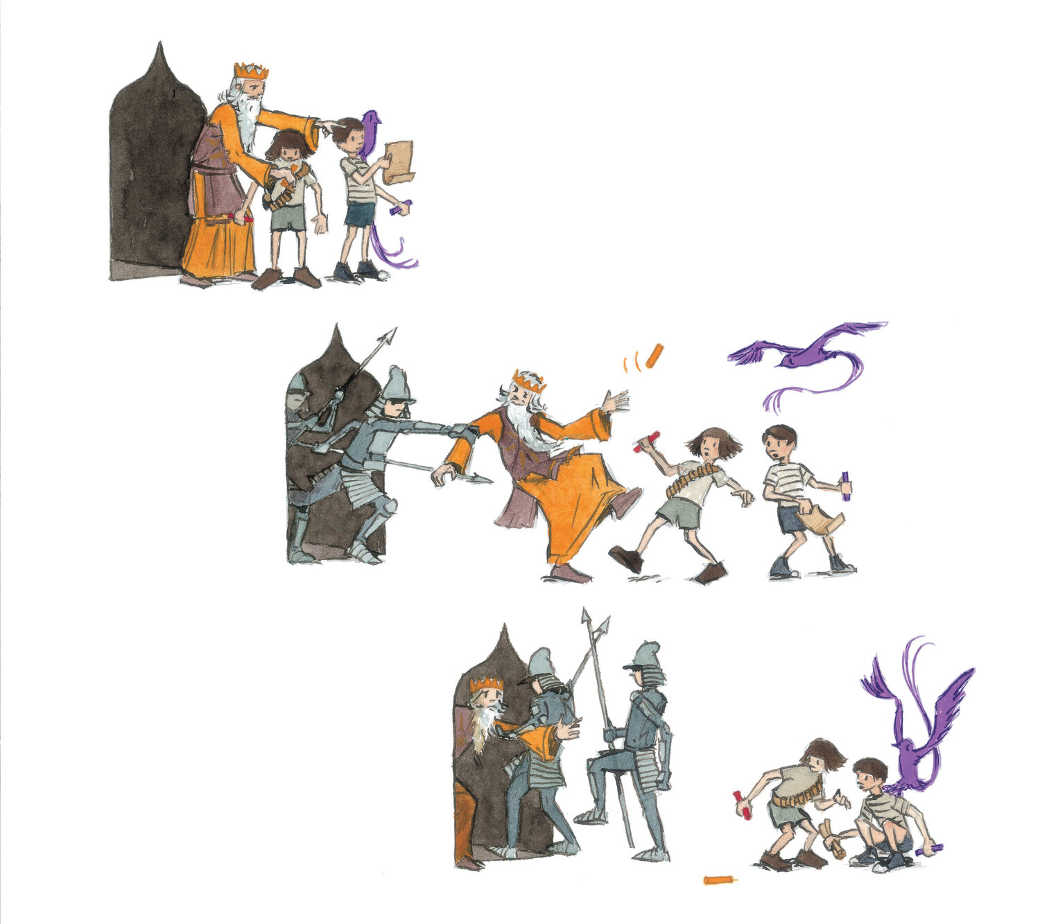 Quest. Copyright 2014 by Aaron Becker. Reproduced by permission of the publisher, Candlewick Press, Somerville, MA.