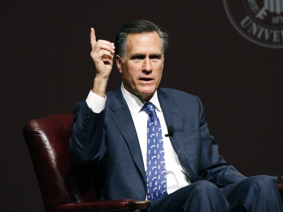 Mitt Romney, the former Massachusetts governor who has made two previous bids for the presidency, says he will not run in 2016. (Rogelio V. Solis/AP)