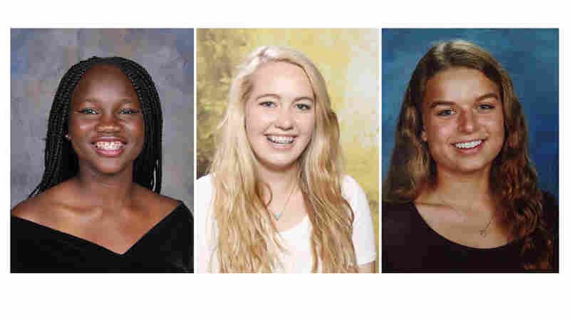 They're members of the global-minded teens club: (left to right) Toluwanimi Sola-Adeyemi of Lagos, Chloe McGill of Seattle and Emine Arcasoy of Chapel Hill.