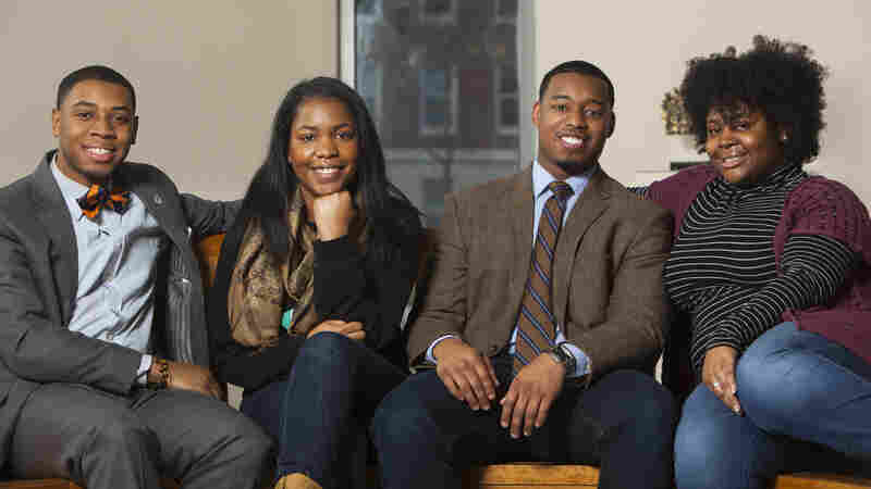 Howard University students (left to right) Kevin Peterman, Taylor Davis, Leighton Watson and Ariel Alford are the subjects of NPR's Project Howard. They'll be keeping audio diaries as they finish their final semester of college and look toward their futures.
