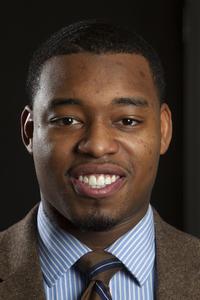 Leighton Watson, senior at Howard University and President of the Student Association.