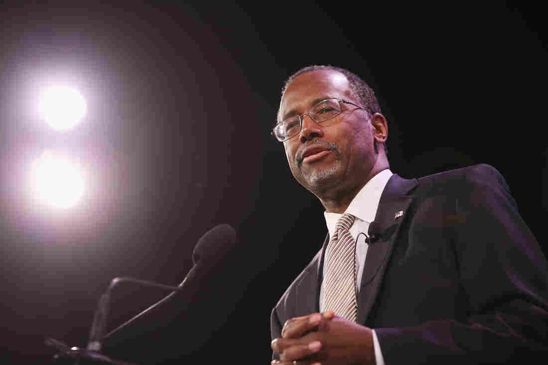 Dr. Ben Carson speaks to guests at the Iowa Freedom Summit on January 24, 2015 in Des Moines, Iowa.