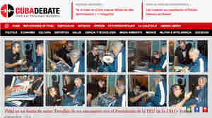 Cuba has published the first photos of Fidel Castro in five months, showing the 88-year-old former leader engaged in conversation with the head of the main Cuban student union.