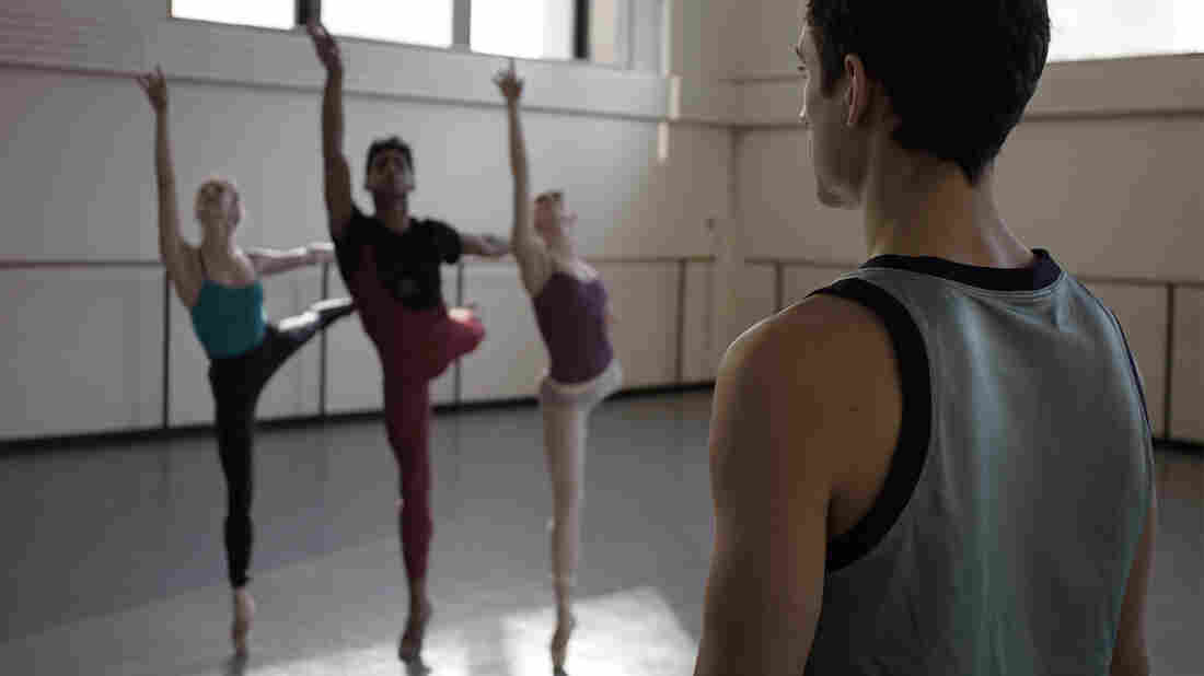 New York City Ballet principal dancers Sterling Hytlin, Tiler Peck, Amar Rama and choreographer Justin Peck.